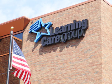 Learning Care Group sign on the outside of building