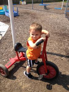 Christian in the playground!